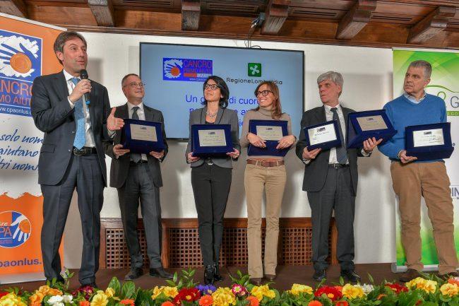 Cancro Primo Aiuto premia gli assessori regionali
