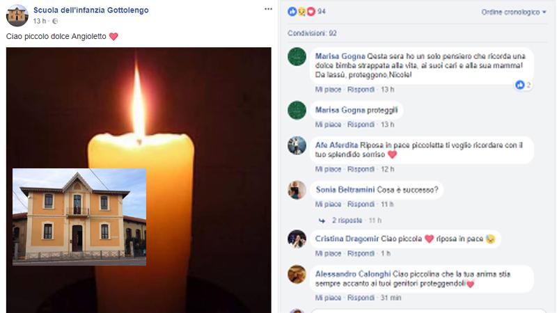Bimba morta per otite dopo un mese nel Bresciano: aveva solo quattro anni