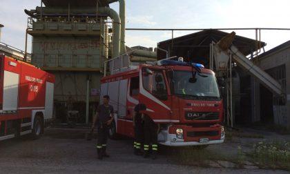 Incendio Agnadello, atto vandalico all'ex azienda di legname FOTO
