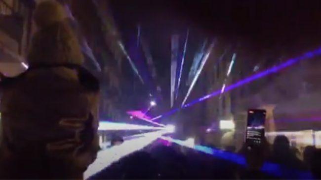 Laser show in corso Garibaldi illumina Cremona VIDEO