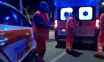 Auto fuori strada a Cicognolo, 27enne in ospedale SIRENE DI NOTTE