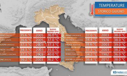 Caldo eccezionale al Nord, frantumati i record di giugno PREVISIONI METEO