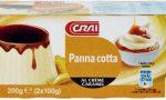 Panna cotta al creme caramel richiamata: rischio microbiologico