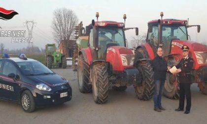 Furto di trattori, ritrovati tre mezzi in una cascina abbandonata
