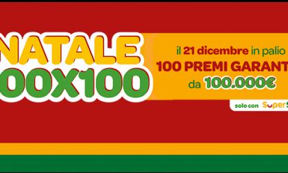 """""""Natale 100×100"""" di SuperEnalotto SuperStar: assegnati 100 premi da 100 mila euro, uno a Cremona"""