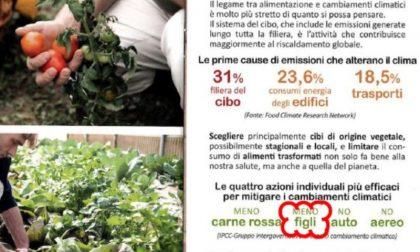 """""""Per la salute e per l'ambiente, fai meno figli"""", ed è bufera sul Comune di Cremona"""