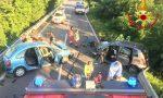 Schianto frontale sulla via Emilia: tre feriti gravi FOTO