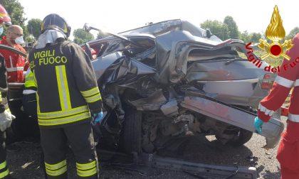 Incidente stradale in autostrada, sulla A1 arriva l'elisoccorso FOTO