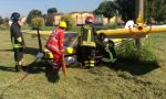 Incidente aereo: piccolo velivolo precipita subito dopo il decollo FOTO