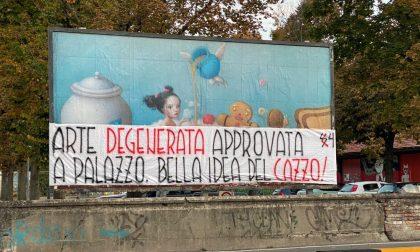 """Manifesti Nicoletta Ceccoli: """"Arte degenerata approvata a palazzo. Bella idea del ca**o!"""""""