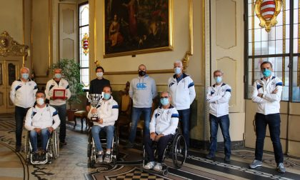 I campioni regionali di Tennis in carrozzina della Baldesio ricevuti a Palazzo comunale