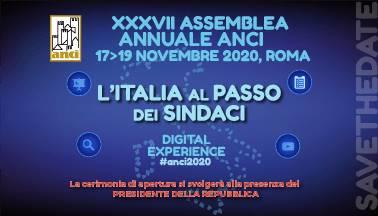 La XXXVII Assemblea Anci sarà una digital experience, appuntamento il 17, 18 e 19 novembre