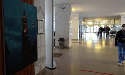 Il Torrazzo entra in ospedale: la foto scattata durante il primo lockdown esposta nell'atrio