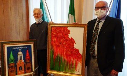 Due dipinti donati all'Ospedale di Cremona: simboli di speranza e coraggio dedicati ai sanitari