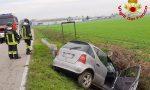 Esce di strada e finisce in un fossato, soccorso un uomo di 45 anni