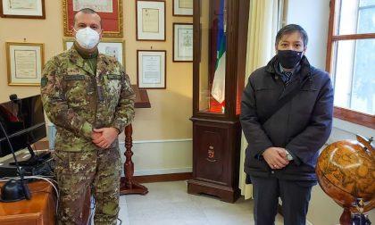 Il dirigente dell'UST Cremona Fabio Molinari in visita al X Reggimento Genio Guastatori