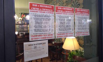 #Ioapro1501: la protesta pacifica dei ristoratori e baristi cremaschi