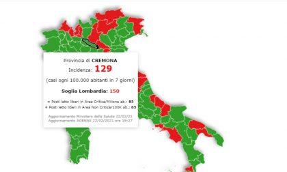 In Lombardia la situazione peggiora ma Cremona resta sotto la soglia critica
