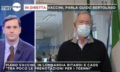 """Bertolaso: """"Finire vaccinazioni over 80, dalla prossima prenotazioni over 70 con Poste"""""""