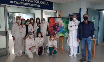 """L'arte e la cura: il dipinto di Valcarenghi in """"viaggio"""" dentro l'ospedale di Cremona"""