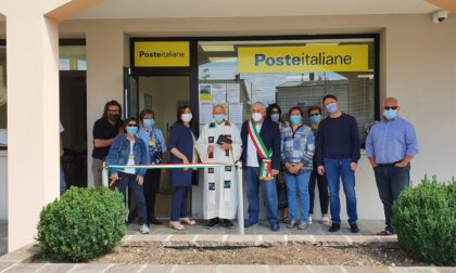 Riapre l'ufficio postale di Ticengo nella nuova sede ristrutturata