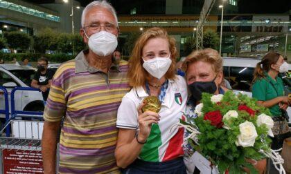 Olimpiadi Tokyo 2020: grande festa per Valentina Rodini al rientro in Italia