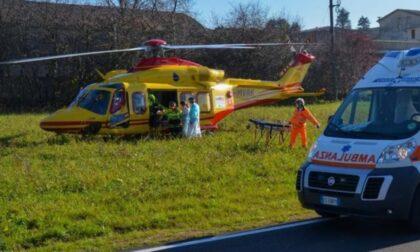 Incidente tra auto e moto: a Ripalta Cremasca arriva l'elisoccorso